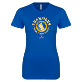 Next Level Ladies SoftStyle Junior Fitted Royal Tee-2018 NEAC Womens XC Champions