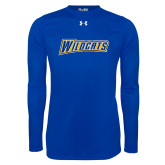 Under Armour Royal Long Sleeve Tech Tee-Wildcats