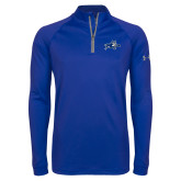 Under Armour Royal Tech 1/4 Zip Performance Shirt-Wildcat Logo