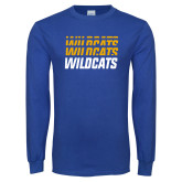 Royal Long Sleeve T Shirt-Wildcats Graphic