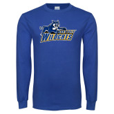 Royal Long Sleeve T Shirt-Primary Logo Distressed