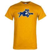 Gold T Shirt-Wildcat Logo