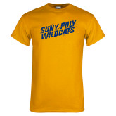 Gold T Shirt-Suny Poly Wildcats Clawed