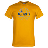 Gold T Shirt-Wildcats Basketball
