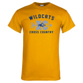 Gold T Shirt-Wildcats Cross Country