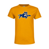 Youth Gold T Shirt-Wildcat Logo