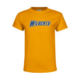 Youth Gold T Shirt-Wildcats
