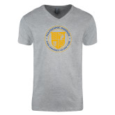 Next Level V Neck Heather Grey T Shirt-University Seal