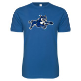 Next Level SoftStyle Royal T Shirt-Wildcat Logo