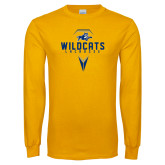 Gold Long Sleeve T Shirt-Wildcats Lacrosse