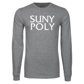 Grey Long Sleeve T Shirt-SYPy Poly Stacked