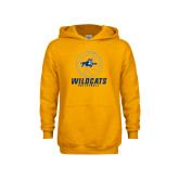 Youth Gold Fleece Hoodie-Wildcats Volleyball