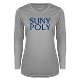 Ladies Syntrel Performance Platinum Longsleeve Shirt-SYPy Poly Stacked