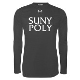 Under Armour Carbon Heather Long Sleeve Tech Tee-SYPy Poly Stacked