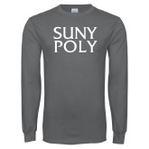 Charcoal Long Sleeve T Shirt-SYPy Poly Stacked