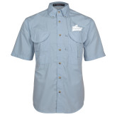 Light Blue Short Sleeve Performance Fishing Shirt-Primary Mark
