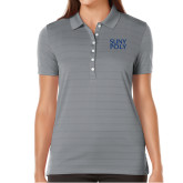 Ladies Callaway Opti Vent Steel Grey Polo-SYPy Poly Stacked