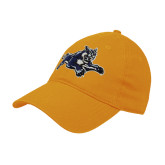 Gold Twill Unstructured Low Profile Hat-Wildcat Logo