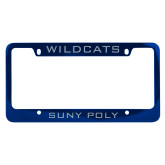 Metal Blue License Plate Frame-Wildcats