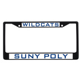 Metal License Plate Frame in Black-Wildcats