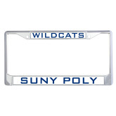 Metal License Plate Frame in Chrome-Wildcats