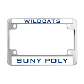 Metal Motorcycle License Plate Frame in Chrome-Wildcats