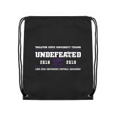 Black Drawstring Backpack-2019 Football Champions
