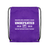 Purple Drawstring Backpack-2019 Football Champions