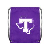 Purple Drawstring Backpack-Primary