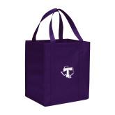 Non Woven Purple Grocery Tote-Primary