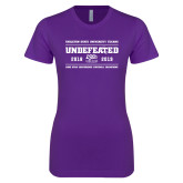 Next Level Ladies SoftStyle Junior Fitted Purple Tee-2019 Football Champions