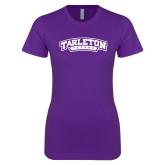 Next Level Ladies SoftStyle Junior Fitted Purple Tee-Tarleton Texas
