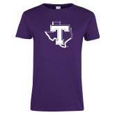 Ladies Purple T Shirt-Primary