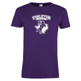 Ladies Purple T Shirt-Full Spirit Mark
