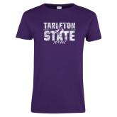 Ladies Purple T Shirt-Block Letters
