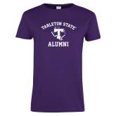 Ladies Purple T Shirt-Alumni