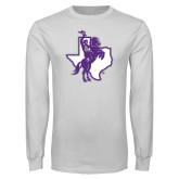 White Long Sleeve T Shirt-Texas Spirit Mark
