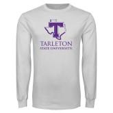 White Long Sleeve T Shirt-Tarleton State University