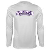 Performance White Longsleeve Shirt-Tarleton Texas