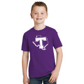 Youth Purple T Shirt-Primary