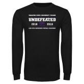 Black Long Sleeve T Shirt-2019 Football Champions