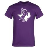 Purple T Shirt-Texas Spirit Mark