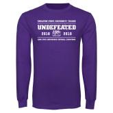 Purple Long Sleeve T Shirt-2019 Football Champions
