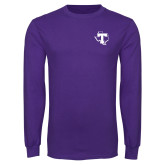 Purple Long Sleeve T Shirt-Primary