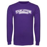 Purple Long Sleeve T Shirt-Tarleton Texas
