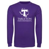 Purple Long Sleeve T Shirt-Tarleton State University