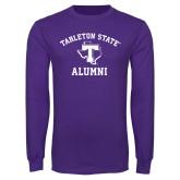 Purple Long Sleeve T Shirt-Alumni