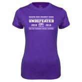 Ladies Syntrel Performance Purple Tee-2019 Football Champions