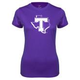 Ladies Syntrel Performance Purple Tee-Primary