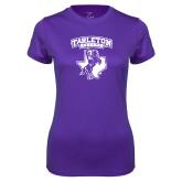 Ladies Syntrel Performance Purple Tee-Full Spirit Mark